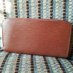 Louis Vuitton Epi Leather Clemence brown wallet